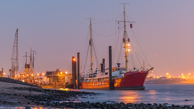 Sea, Waters, Ship, Port, Boot, Hamburg, Ships, Cranes