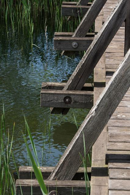 Waters, Wood, Bridge, Wooden Construction, River