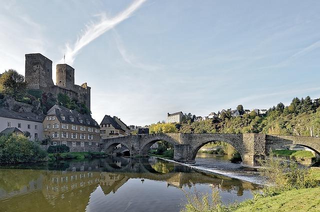Germany, Lahn, Castle Runkel, Waters, Architecture