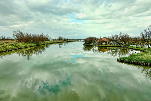 Waters, Nature, Reflection, River, Clouds, Sky