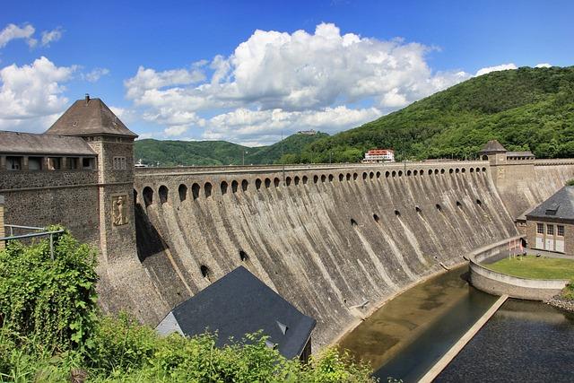 Waters, Architecture, Travel, Bridge, Dam, Nature, Sky