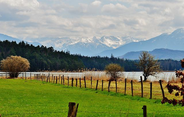 free photo romantic landscape mountains iffeldorf easter lake max