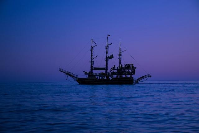 Blue Sky, Sea, Waters, Ship
