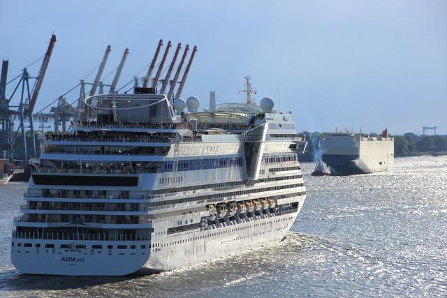 Aida, Ship, Waters, Port, Hamburg, Water