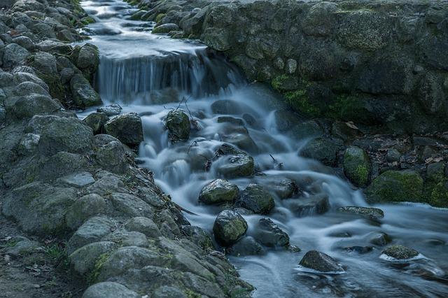 Soft, Waters, Waterfall, Nature