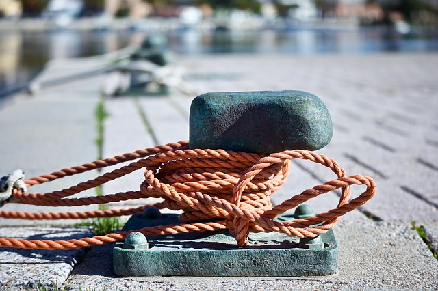 Bitta, Top, Jetty, Rope, Sea, Maritime, Boat, Waters