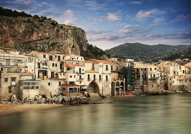 Architecture, City, Travel, Waters, Big City, Cefalù