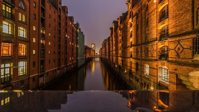 Channel, Waters, Travel, River, City, Hamburg