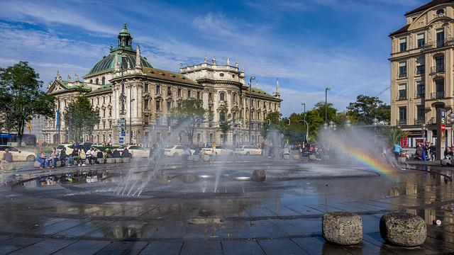 Fountain, Waters, Architecture, City, Travel, Building