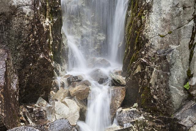 Waterfall, Waters, Nature