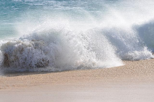 Sea, Water, Beach, Sandy Beach, Cape Verde, Wave
