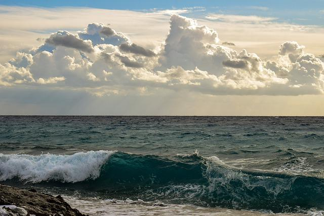 Wave, Sea, Foam, Spray, Ocean, Water, Sky, Clouds