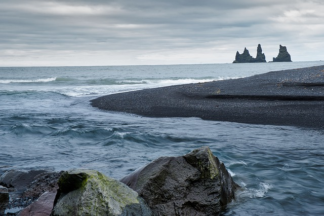 Iceland, North Atlantic, Rock, Branding, Water, Wave