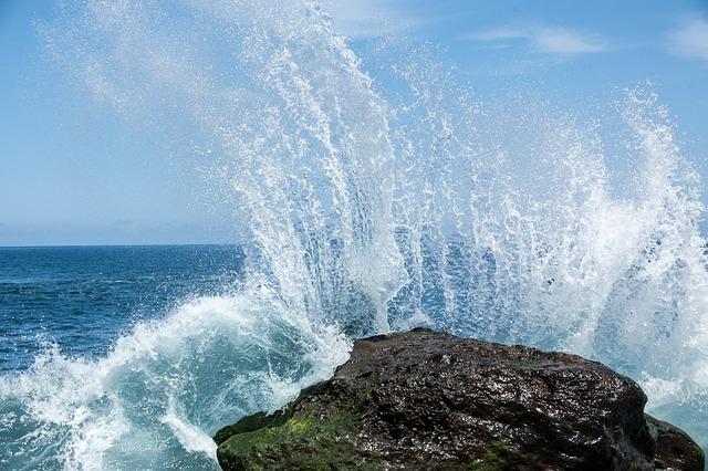 Wave, Water, Ocean, Inject, Tenerife, Nature