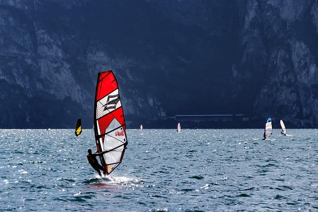 Wind Surfing, Water Sports, Wind, Water, Wave, Sport