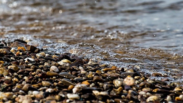 Water, Wet, Nature, Bank, Pebble, Stones, Wave