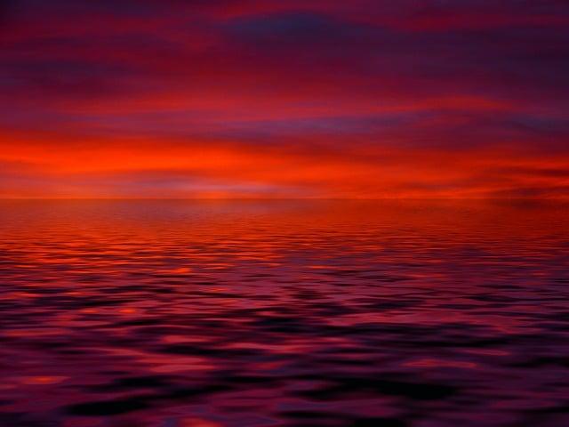 Sunrise, Cloud, Red, Orange, Mood, Water, Wave