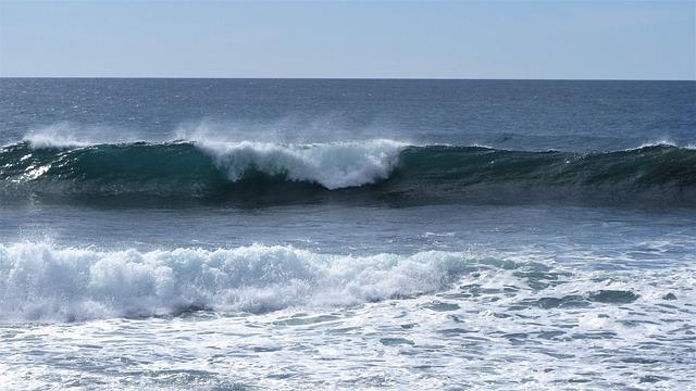Golf, Branding, Billow, Waves, Beach, Foam, Coast, Sea