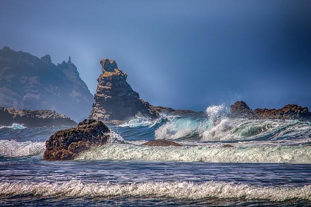 Sea, Waves, Rock, Ocean, Splash, Foam, Water, Atlantic