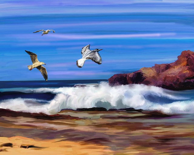 Ocean, Waves, Tide, Splash, Coastline, Shore