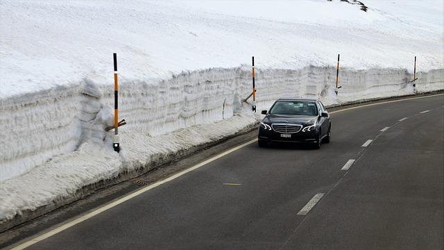 Way, The Alps, Transport, Car, Asphalt, Extremely