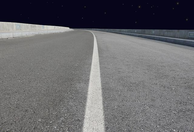 Way, Highway, Night, Empty, Line, Celebrities, Light