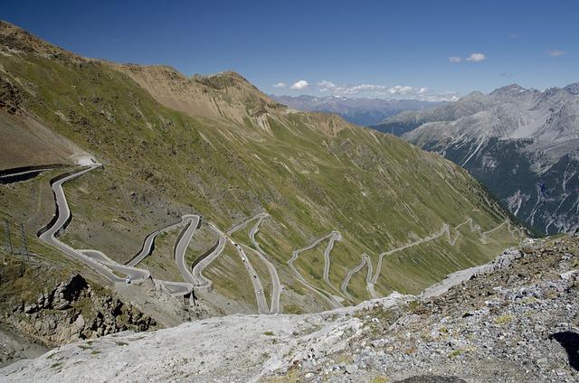 Passo Stelvio, Mountains, Pass, Way