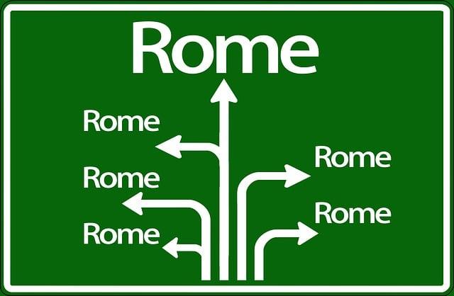 Rome, Search, Figure Of Speech, Center, Way