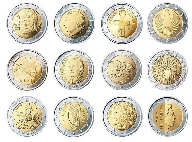 Coins, Currency, Euros, Money, Wealth, Finance