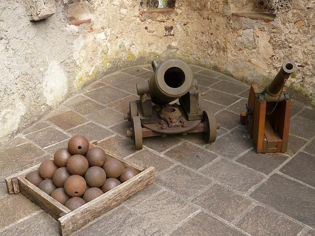 Gun, Cannonball, Mortar, Weapon, Shot, Lichtenstein