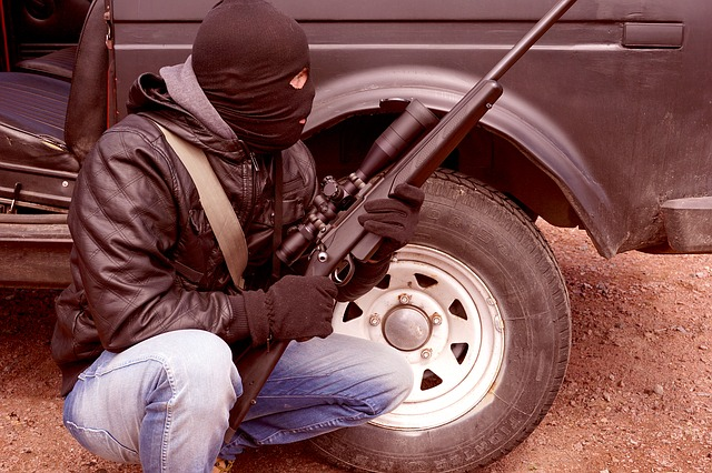 Criminal, Terrorist, Rifle, Weapons, Balaclava