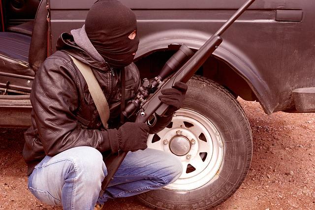 Criminal, Terrorist, Rifle, Weapons, Balaclava