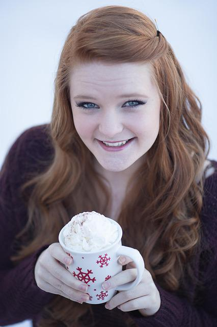 Winter, Cold, Hot Chocolate, Season, Weather, Young