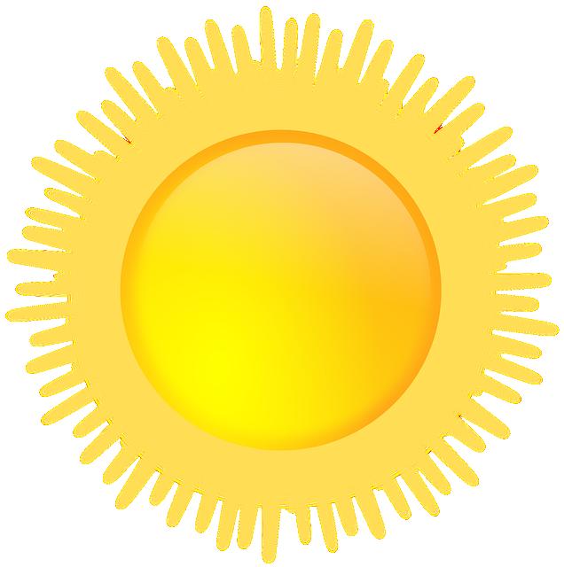 Sun, Sunny, Weather, Sunshine, Yellow, Forecast
