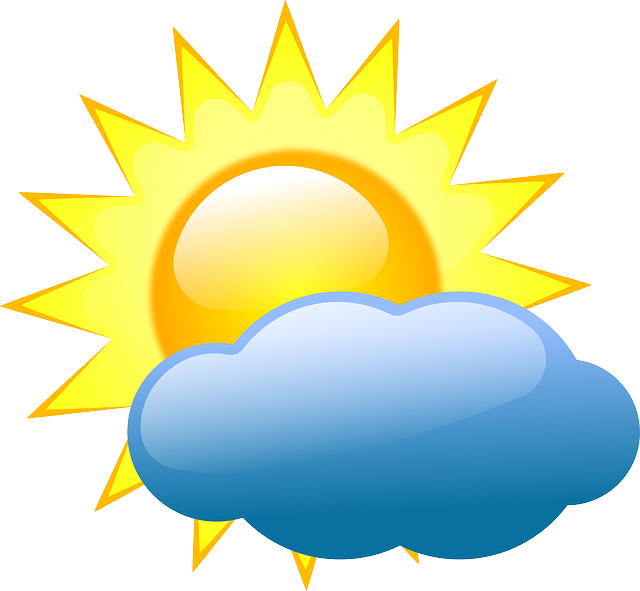 Clouds, Sunny, Warm, Patches, Weather, Partly, Cloudy