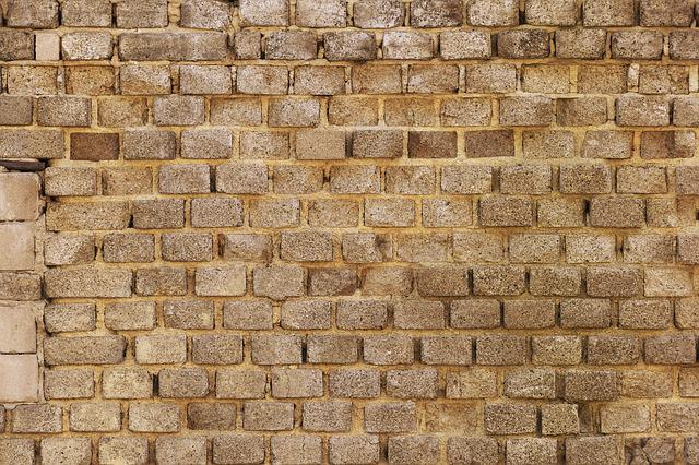 Sand-lime Brick, Old Brick Wall, Wall, Weathered, Dirty