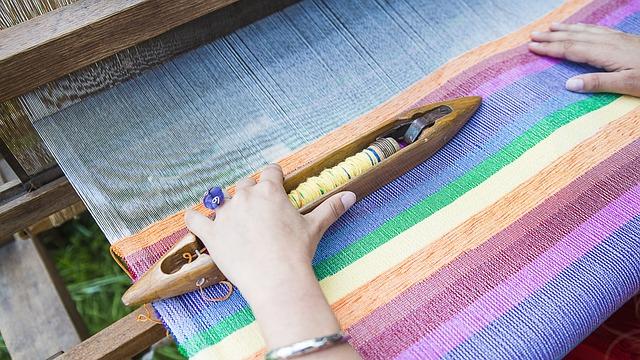 Weaving Loom, Weaving, Traditional, Color, Fiber