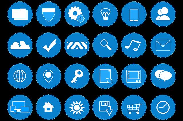 Icons, Web Development, Website Design, Flat