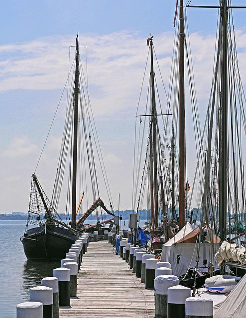 Flatboats, Port, Investors, Mole, Web, Schlei, Kappeln