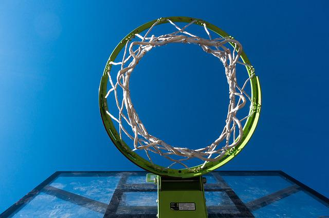 Basketball, Basket, Sky, In The Free, Web, Plastic