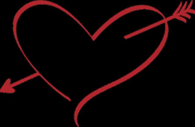 Heart, Love, Wedding, Amor, Arrow, Red, Pierced