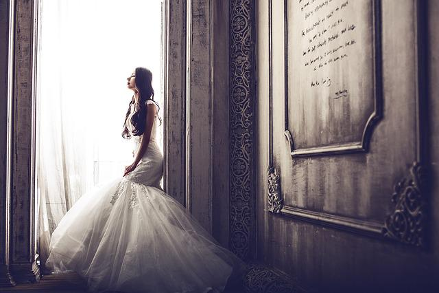 Wedding Dresses, Bride, Wedding, Elegant, White, Female
