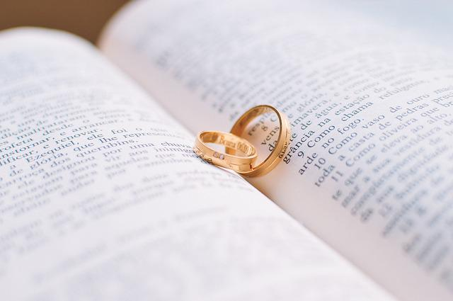 Couple, Love, Rings, Book, Wedding, Bible, Vows