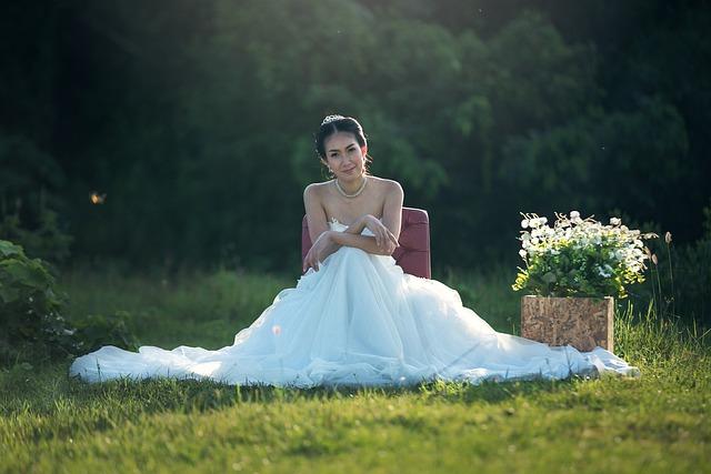 Bride, Fashion, Wedding, Adult, Asia, Cute, Dressed Up