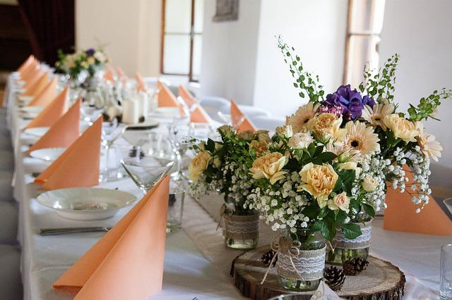Wedding, Wedding Decoration, Manor-house, Gerbera