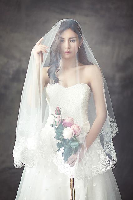 Wedding Dress, Fashion, Bride, Veil, White Dress