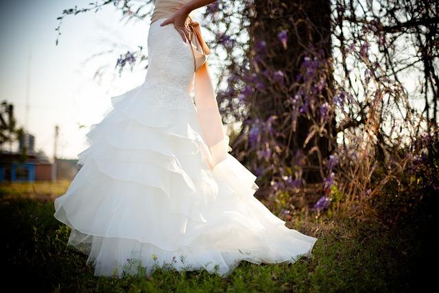Wedding Dress, Dress, Woman, White, Female, Elegant