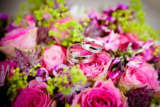 Flowers, Wedding, Wedding Rings, Bouquet, Floral