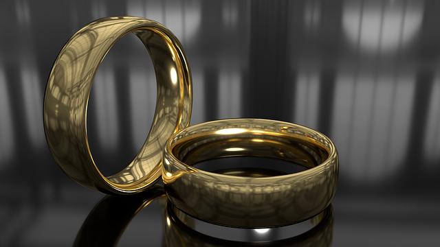 Rings, Gold, Shine, Metal, Gift, Wedding