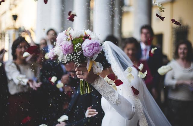 Wedding, Couple, Marriage, Bridal Bouquet